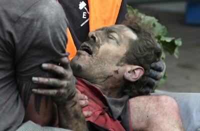 boston.com - Imagens chocantes do terramoto na Nova Zelandia